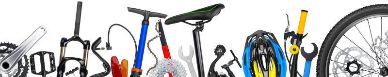 Bicykl rozdziela panoramę Obrazy Royalty Free