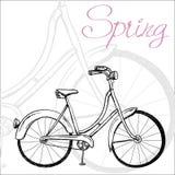 bicykl rysująca ręka Obraz Stock