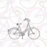 bicykl rysująca ręka Zdjęcie Stock