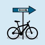 Bicykl usługa Obrazy Royalty Free