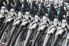 Bicykl w rzędzie Zdjęcia Stock