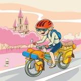 Bicykl wycieczka turysyczna royalty ilustracja