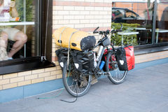 Bicykle avec l'emballage Image stock