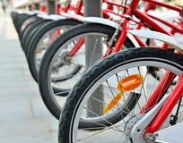 Bicykle na ulicie Zdjęcia Stock