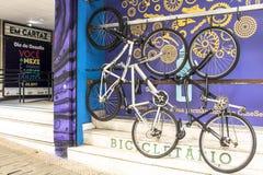 Bicykle parkujący zdjęcie stock