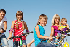 bicykle rodzinni Obraz Stock