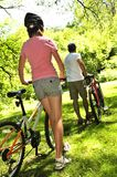 bicykle rodzinni Zdjęcia Royalty Free