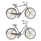 Bicykle z tęcz kołami Obraz Royalty Free