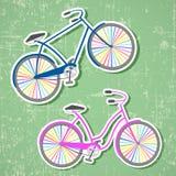 Bicykle z tęcz kołami Zdjęcia Stock
