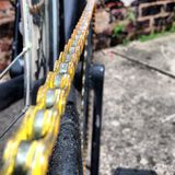 Bicyklu łańcuch Zdjęcia Royalty Free