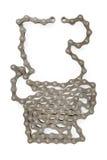 Bicyklu łańcuch odizolowywający na bielu Obrazy Stock