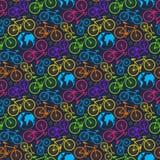 Bicyklu i ziemi wzór ilustracja wektor
