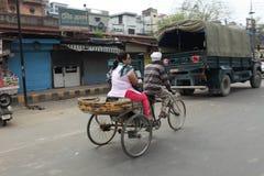 Bicyklu lub riksza taxi Fotografia Stock
