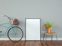 Bicyklu ramy, wazy i krzesła w białym, czyścą ilustracja wektor