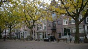 Bicyklu ruchu drogowego czasu upływ Amsterdam, holandie Amsterdam jest wielkim Europejskim kapitałem z liczbą dziejowy zbiory wideo