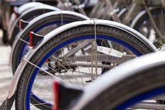 bicyklu rząd Fotografia Royalty Free