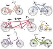 Bicyklu set Obrazy Royalty Free