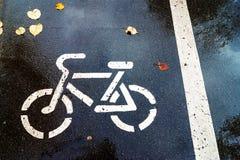 Bicyklu znak Zdjęcie Royalty Free