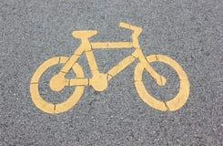 Bicyklu znak Obrazy Royalty Free