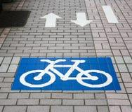 Bicyklu znak Fotografia Royalty Free