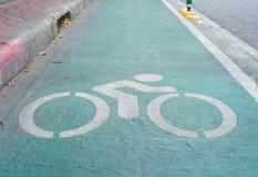 Bicyklu znak, pas ruchu dla bicyklu Zdjęcia Stock