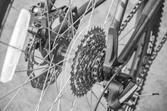 Bicylce chain and gear system Royalty Free Stock Image