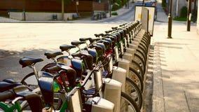 Bicylces на улице Монреаля, Канады Стоковая Фотография