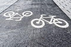 Bicyle车道 库存图片