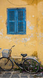 A bicyle parking on street in Hoi An, Vietnam Stock Photo