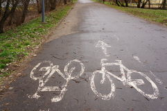 Bicyle path Stock Photography