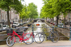 Bicyles in Amsterdam Stock Photography