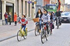 Bicyles in Brugge royalty-vrije stock afbeelding