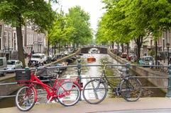 Bicyles em Amsterdão Fotografia de Stock