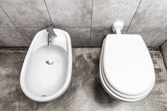 Bidé y toilette fotografía de archivo libre de regalías
