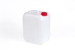 Bidón plástico blanco Foto de archivo