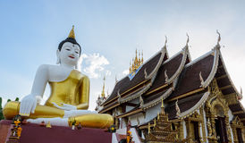 Bid Buddha statue in Chiangmai Thailan Royalty Free Stock Image