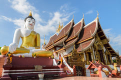 Bid Buddha statue at Wat Rajamontean Temple in Chiangmai Thailan Royalty Free Stock Photo