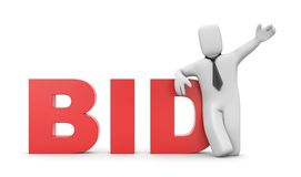 Bid. Business concept Stock Photos