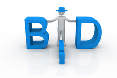 Bid. Business concept on isolated background Stock Photography