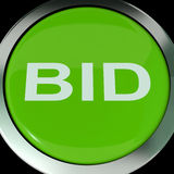 Bid Button Shows Online Auction Or Bidding. Bid Button Showing Online Auction Or Bidding Royalty Free Stock Images