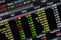 Bid click stock market. Bid click in online stock market royalty free stock image