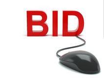 Bid connected to a computer mouse Royalty Free Stock Image