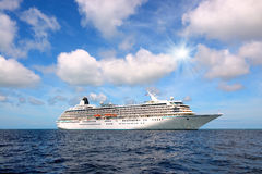 Bid cruise liner royalty free stock photography