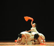 Bid en jaar-moderne dans hoop-zeven Royalty-vrije Stock Afbeeldingen