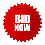 Bid now auction vector icon Stock Photos