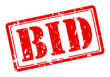 BID red stamp text Royalty Free Stock Image