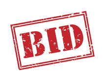 Bid red stamp. On white background Royalty Free Stock Image