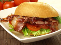 Sandwich with bacon Royalty Free Stock Images