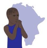 Bid voor Afrikaan stock illustratie