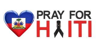 Bid voor het concept van Haïti met hart vector illustratie